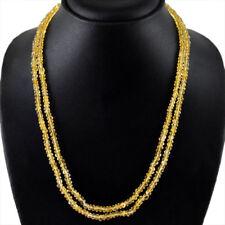 2 rangs de perles en citrine pour création collier/141,5 carats