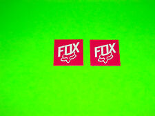 FOX RACING MOTOCROSS QUAD BMX SKATEBOARD WAKEBOARD PINK & WHITE STICKERS DECALS