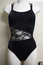 Ladies ballet dance wear lace camisoles leotard