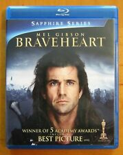 Braveheart (Blu-ray, 2-Disc Set, Sapphire Edition) Mel Gibson, New - No Digital!