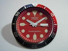 NEW REPLACEMENT RED DIAL/HANDS/INSERT FITS SEIKO SKX007 7S26-0020 DIVER'S WATCH