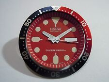 NEW SEIKO REPLACEMENT RED DIAL/HANDS/INSERT FOR SEIKO 7S26-0020 DIVER'S WATCH