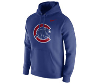 NIKE MLB CHICAGO CUBS CLUB FLEECE LOGO PULLOVER HOODIE 37270X MEN'S SIZE MEDIUM