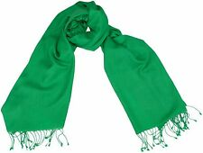 Pashmina Schal  Jasmin Grün 56x182cm 70% Cashmere 30% Seide silk scarf green