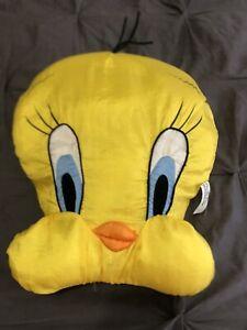 """Vintage Tweety Bird Head Plush 18"""" Face Pillow Stuffed Animal Looney Tunes"""