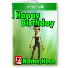 Personalised Name, Age and Xbox Avatar A5 Happy Birthday Card