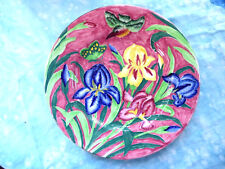 """7 Vintage Maling Kingfisher Plate  Hand Painted 11"""" made in England"""