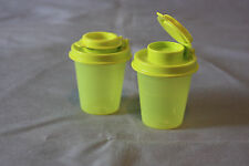 Tupperware small mini salt and pepper shakers 2 oz midget travel camping New