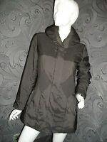 NEW * JOHN LEWIS * BLACK LIGHT PADDED LARGE COLLAR COAT / JACKET SIZE 10 RRP £99