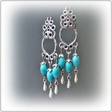 Hook Turquoise Handcrafted Earrings