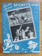 1951 BOSTON CELTICS vs NEW YORK KNICKS Program BILL RUSSELL HARRY GALLATIN