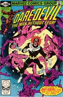 DAREDEVIL #169 VG Frank Miller 2nd Elektra Direct Marvel Comics 1981 Stock Image
