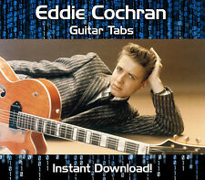 EDDIE COCHRAN ROCK GUITAR TAB TABLATURE DOWNLOAD SONG BOOK SOFTWARE TUITION