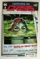 Heroes In Crisis #8 Birth of Harley Quinn Variant DC Comic 1st Print 2018 NM