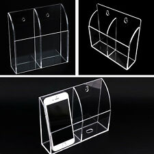 Wall Mount Acrylic TV Remote Control Holder Organizer Storage Home Clean & Tidy
