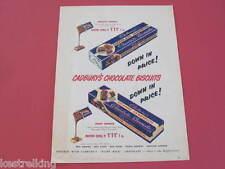 Cadburys Chocolate Sandwich & Orange Sandwich Original Full page Advertisement
