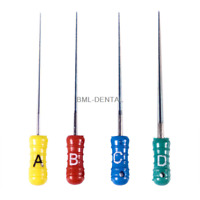 One pack Dental TAPERED FINGER SPREADER 25mm ABCD Endo Root Canal Files