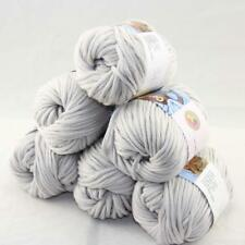 SALE Special Thick Chunky 100% Cotton Shawl Scarf Hand Knit Yarn 6 BallsX50gr 37