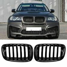 NIEREN GRILL GLANZ SCHWARZ KÜHLERGRILL FÜR BMW X5 M E70 X6 E71 E72 2007 - 2014