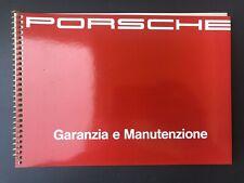 Porsche 964 Carrera 2 & 4 Libretto Garanzia E Manutenzione 1990 / 1991