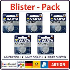 VARTA BATTERIEN CR2032 CR2025 CR2016 CR2430 CR2450 3V Auswahl Blisterware