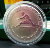 1996 Australia's Olympics $10 Silver Frosted UNC Coin - Shirley Strickland