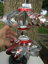 Dr Pepper 25th Anni Man in Top Hat 2 LAYER ALUMINUM CAN WHIRLIGIG WIND SPINNER