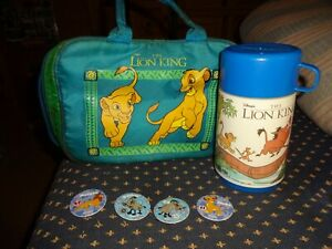 DISNEY'S THE LION KING SIMBA SOFT LUNCH BOX BAG WITH THERMOS AND 4 POGS