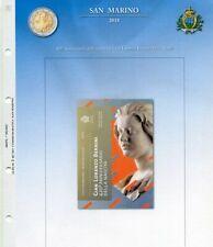 Fogli per 2 euro commemorativi SAN MARINO dal 2004 al 2020 - Abafil