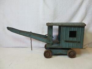 Vintage Structo Construction Toys Steam Shovel Wood Wheels Restore/Repair