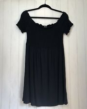 ASOS Tall Womens Dress Black Off The Shoulder Stretch Summer Size 14 NWT