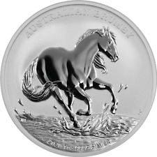 Perth Moneda Australia Brumby Caballo 2020 1 Onza 999 Plata de En Kapsel