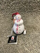 Midwest Of Cannon Falls Snowman Figurine Penguin Bird House 5� Jolly Follies