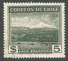 Chile Scott# 208, Lake Villarica Scene, 5p, Used, 1938