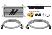 MISHIMOTO Oil Cooler Kit Silver+Thermostat for 03-09 Nissan 350Z/03-07 G35 Coupe