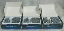Lot of 3 - Monoprice VGA and 3.5mm Stereo Audio to HDMI Converter @R5