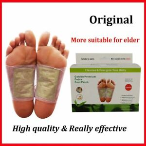 200pcs Gold Kinoki Detox Foot Pads Organic Herbal Slimming Cleansing Patches Pro