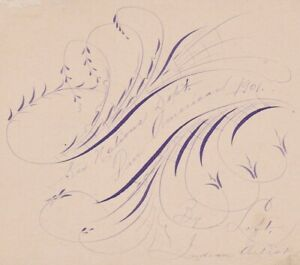 RARE Native American Indian Iroquois Signed Ink Art Pan American 1901 Buffalo NY