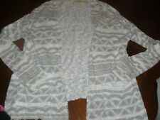 Hollister Gray and White Print  open front sweater cardigan size XS/S