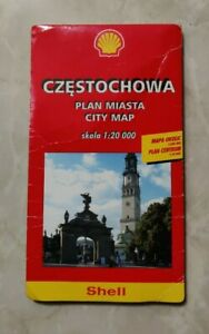 CZESTOCHOWA PLAN MIASTA CITY MAP PIANTA TURISTICA - Skala 1:20000