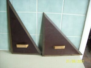 2 large vintage set squares ,Bakelite ?? technical drawing collectable.