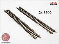 "Z 1:220 Maßstab Märklin Mini-Club Gleise Tracks Rails Set 110mm 4-3/8 "" 2x 8500"