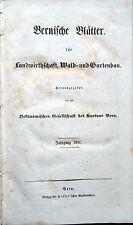 1851 – BERNISCHE BLÄTTER FÜR LANDWIRTHSCHAFT, SVIZZERA AGRICOLTURA BERN SCHWEIZ