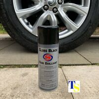 6 X Autosmart Gloss Black Paint 400ml (Black spray - car metals plastics) TRADE