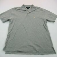 Brooks Brothers Mens Polo Shirt Short Sleeve Custom Gray Large Casual