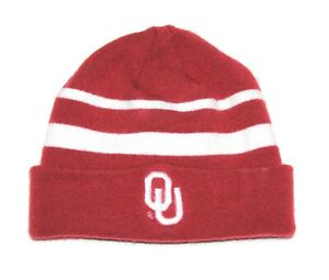 Nike NCAA Oklahoma Sooners Crimson/White Beanie Cap/Hat Youth One Size Fits Most