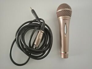 SONY dynamic microphone for vocals F-V420 (Gold) + cord. RRP $99.95. Excellent