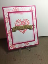Card Kit Set Of 4 Stampin Up Bloomin' Love Valentines Day Shimmer Gold Banner