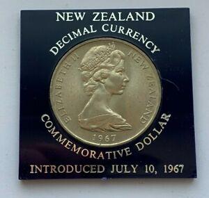 1967 NEW ZEALAND DECIMALIZATION COMMEMORATIVE ONE DOLLAR COIN