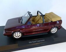 Volkswagen golf Cabriolet 1992 1/18 Norev (Red Metallic)